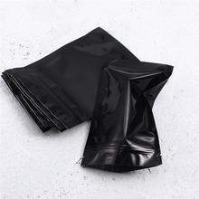 100pcs Resealable Foil Pouch Bag Flat Zipper Zealed Bag Party Favor Packing Bag Food Storage Bag (10 x 15cm)