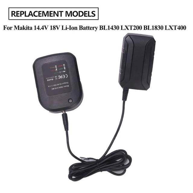 14.4 v 18 マキタ用 12vバッテリー充電器充電器BL1415 BL1815 BL1830 BL1850 交換リチウム電池充電英国/eu/米国のプラグイン
