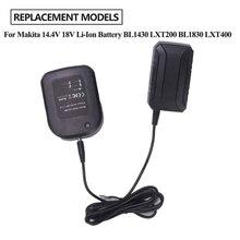 Cargador de batería de 14,4 V y 18V para cargador Makita BL1415, BL1815, BL1830, BL1850, batería de litio de repuesto con enchufe para Reino Unido, UE y EE. UU.