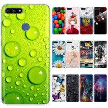 Caso de silicone para huawei y6 prime 2018 caso 5.7 polegada ATU-L21 caso do telefone para huawei y6 prime 2018 capa traseira caso protetor macio