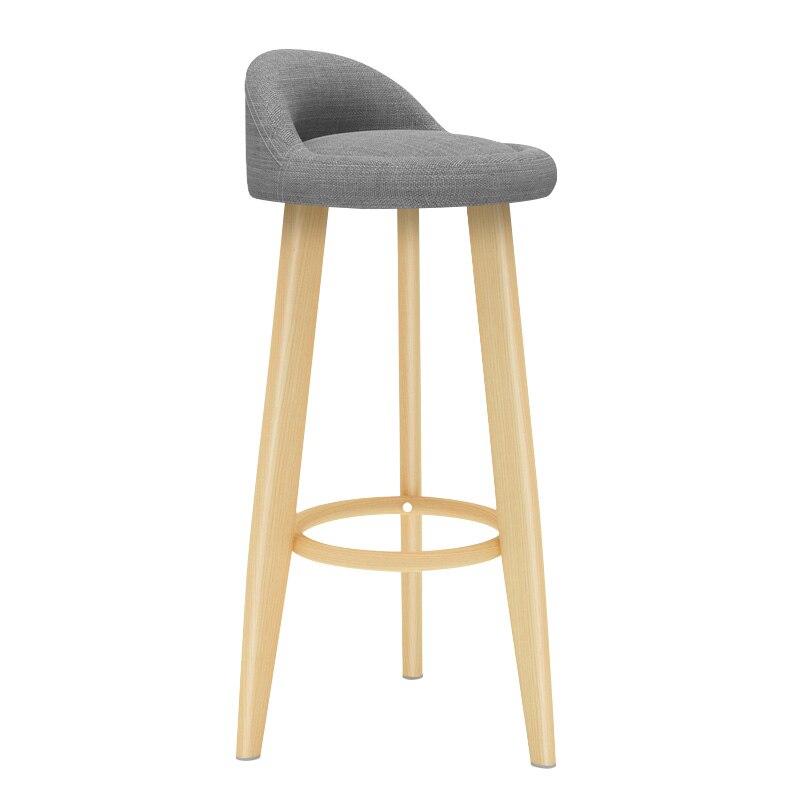 Solid Wood Bar Stool Wooden Chair Bar Table And Chair High Stool Bar Stool Modern Minimalist Stool Bar Chair