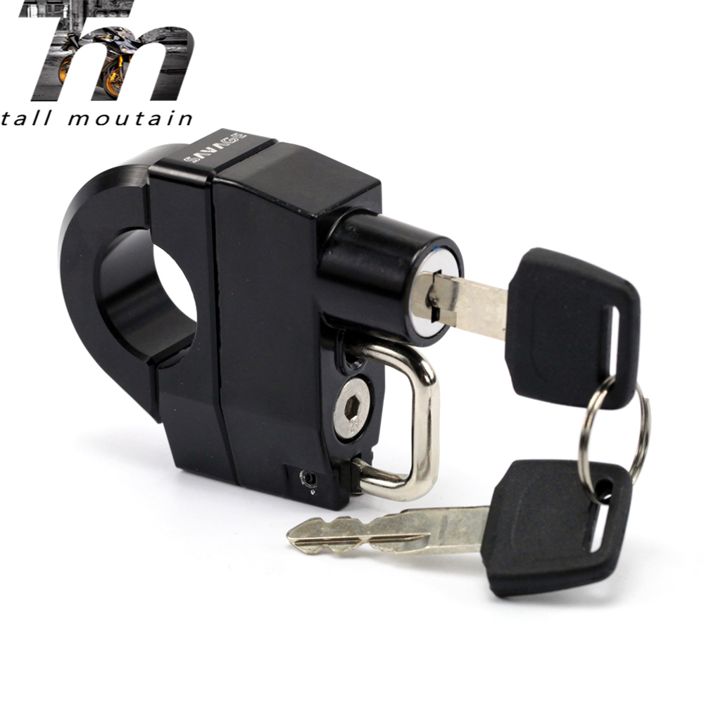 FOR HARLEY-DAVIDSON XL 883 1200 Motorcycle Universal 25mm Handlebars Helmet Lock Key Padlock Accessories 1997-2017 14 15 16 17 8