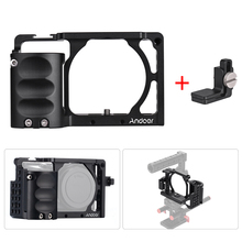 Andoer Video Camera Cage + Hand Grip Kit Film Making System with Cable Clamp for Sony A6000 A6300 A6500 NEX7 to Mount Microphone