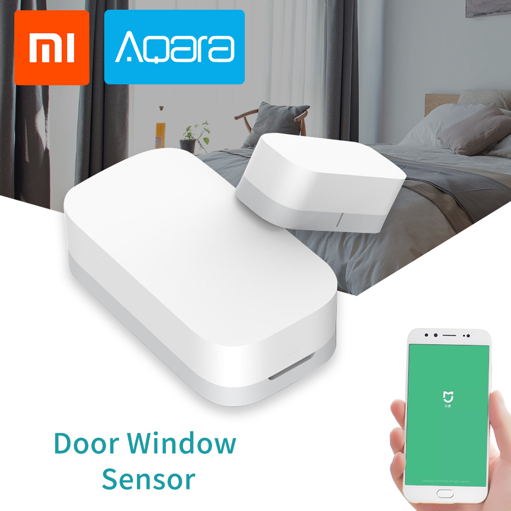 Xiaomi Aqara Door Window Sensor Zigbee Wireless Connection Security Alarm System Suite Work With Mi App For Android IOS Phone image