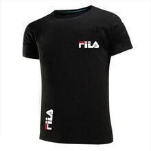 Men's T-shirt running fast dry slim fashion 2021 new brand walking men's and women's T-shirt cotton printing design