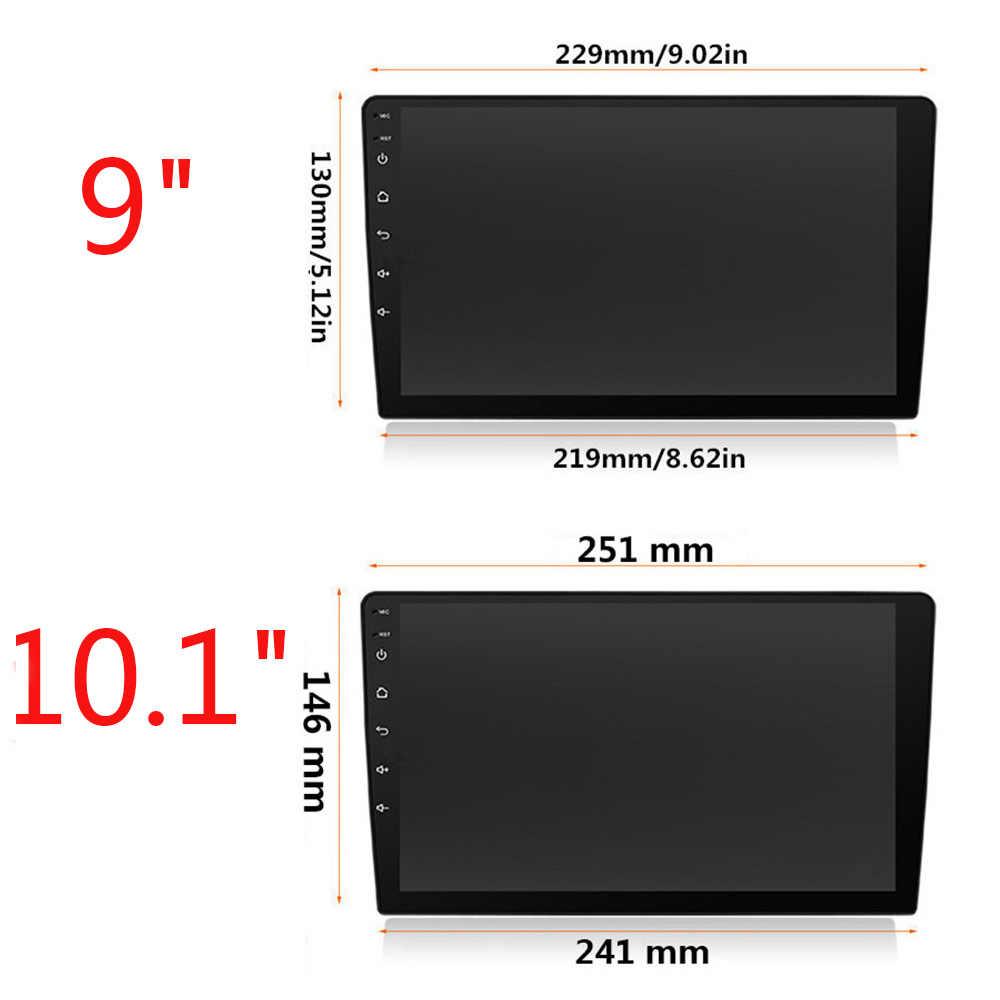 Uniwersalny 9/10. 1 Cal 1 Din Android 9.1 samochodowe multimedia radio samochodowe 1Din radio samochodowe Gps Fm USB pojedynczy samochodowe stereo