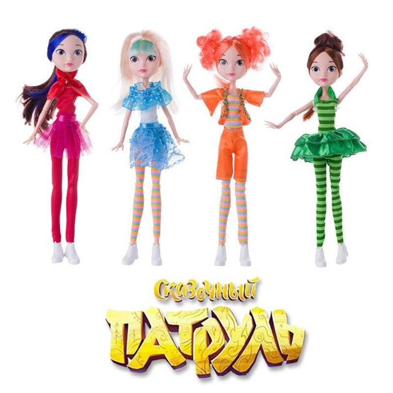 4 teile/satz Fee Patrol Puppe Russische Cartoon DIY MAWA BAPR Mädchen Spielzeug 25cm Mode Puppen