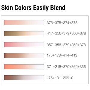 Image 3 - Finecolour Conjunto de rotuladores de punta de pincel de Color, con tinta de Alcohol, marcador artístico de punta de fieltro, suministros de arte cómico, diseño gráfico de punta de fieltro EF102
