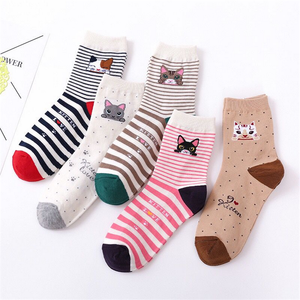 5 пар, носки Kawaii женские животных носки без пятки с рисунком из мультфильмов носки для девочек Горячая Распродажа милый кролик пантера длинные хлопковые носки для женщин и женские туфли-лодочки; Цвет РОЗОВЫЙ, молочно-белого цвета, носки