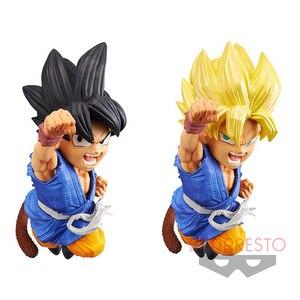 Image 1 - Tronzo oryginalny GT dziecko czarne włosy Super Saiyan cios PVC Model postaci zabawki prezenty