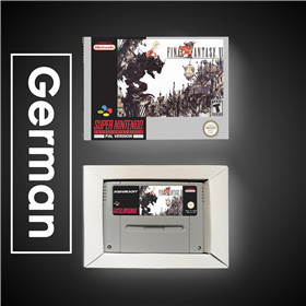 Image 3 - Final Game Fantasy VI 6   EUR Version RPG Game Card Battery Save With Retail Box