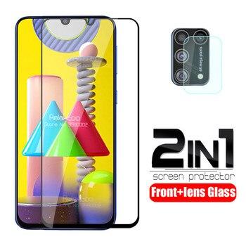 Перейти на Алиэкспресс и купить Защитное стекло для объектива камеры 2 в 1 для samsung Galaxy m31, защитная пленка tremp 6,4 дюйма, защита для экрана, DS, m315F, m, 31