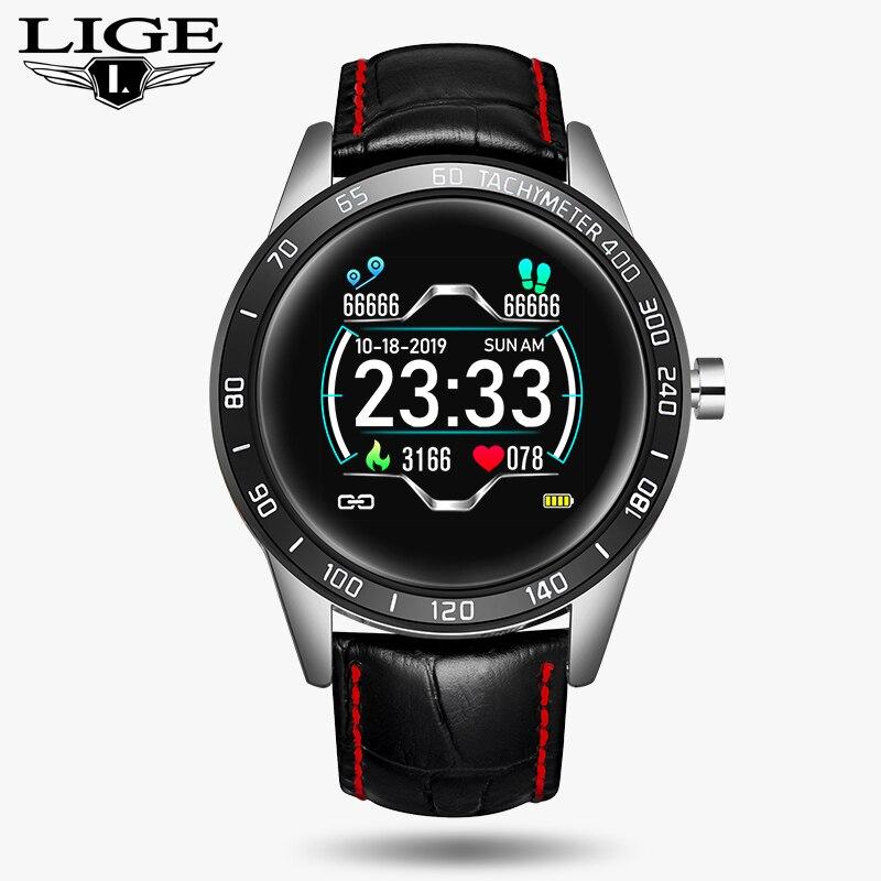 2020 New steel band Men smart watch Waterproof sport for Xiaomi iPhone information Heart rate monitor smartwatch Fitness tracker 12