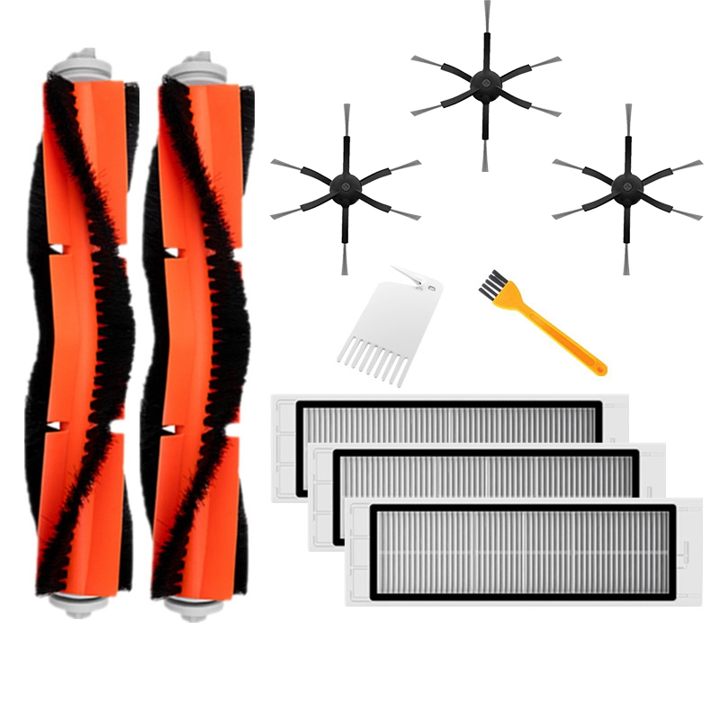 10PCS for Xiaomi Vacuum Cleaner Accessory Replacement (Included 6-Arm Black Side Brush)for XIAOMI Mi Robot Roborock Xiaowa Vacuu thumbnail