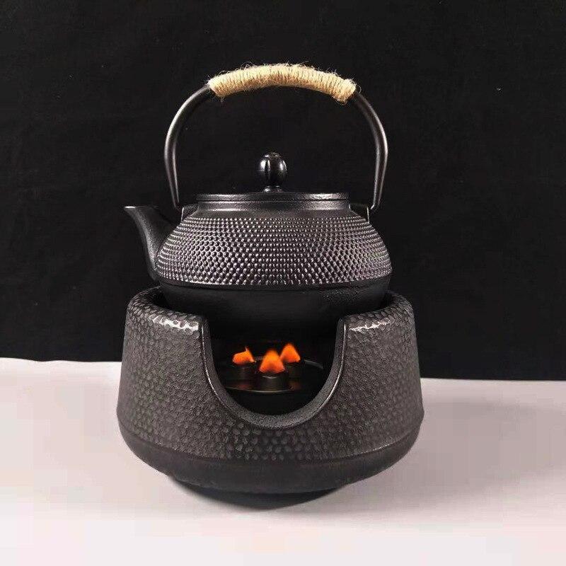 Traditional Chinese Tea Set Kungfu Teapot Set With Filter Cast Iron Handmade Uncoated Cast Iron Kettle Tea Pot Pig Iron Pot