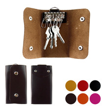 Keychain Wallets-Bag Car-Housekeeper-Holder New Mini Unisex Solid PU 1PCS Fashion-Style