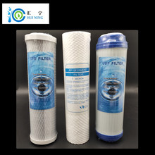 10-Inch Water Purifier Filter UDF Granular Activated Carbon Filter + PP Cotton Filter+ CTO Compressed Carbon