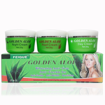Golden Aloe whitening anti scar anti freckle nourishing skin day night and Pearl cream недорого