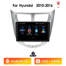 Android10 araba multimedya oynatıcı Hyundai Solaris Accent Verna 2010 2016 IPS GPS navigasyon radyo Video Stereo dokunmatik ekran BT