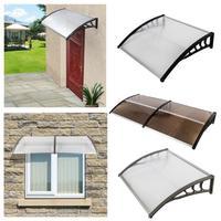 1pc multi-tamanho durável porta dossel toldo de carbonato poli porta & janela toldo para porta de entrada ao ar livre-janela toldo dossel hwc