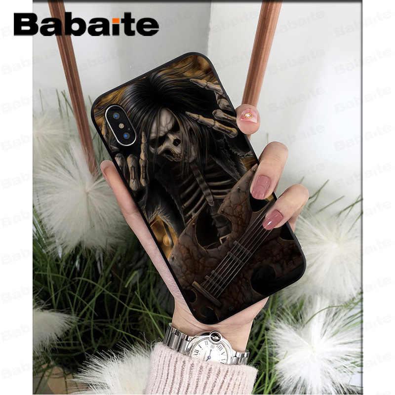 Grim reapers kafatası yüksek kaliteli silikon yumuşak tpu telefon kapağı için Apple iPhone 7 8 6 6S artı X XS MAX 5 5S SE XR kapak