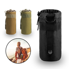 Tactical Water Bottle Pouch Airsoft 600D Outdoor Hiking MOLLE Open Top Hydration Pouch Hunting Water Bag Backpack Accessories