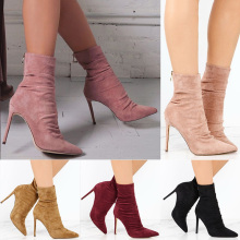 Sexy Ankle Boot Women Boots Female Winter Shoes Women Suede Bota Women Booties High Heel Boots Female Winter Boot Botas Mujer fashion shoes women boots high heel zip ankle boots for women winter shoes suede boots black women ladies shoes botas