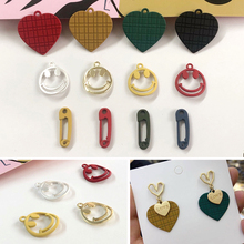 Paint alloy material, love smiling face, pin-shaped pendant, DIY earrings, earrings, accessories, accessories, accessories.