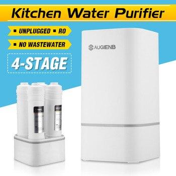 4 étapes comptoir RO purificateur d'eau Membrane osmose inverse système de filtre à eau technologie cuisine Type ménage blanc