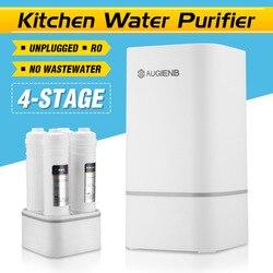 4 bühne Arbeitsplatte RO Wasserfilter Membran Umkehrosmose Wasser Filter System Technologie Küche Typ Haushalts Weiß