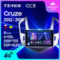 TEYES CC3 Штатная магнитола For Шевролет Круз For Chevrolet Cruze J300 J308 2012 - 2015 до 8-ЯДЕР, до 6 + 128ГБ 27EQ + DSP автомагнитола 2 DIN DVD GPS android 10 мультимедиа автомобиля ...