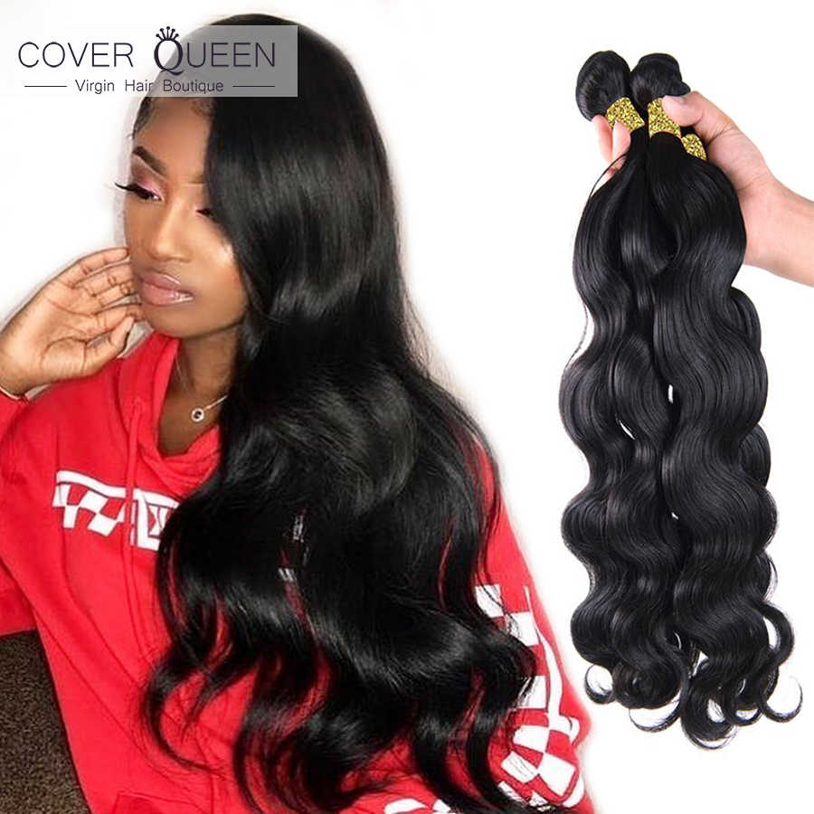 28 30 32 34 40 Inch Brazilian Hair Weave Bundles Body Wave 100% Human Hair Bundles Natural Color Raw Virgin Remy Hair Extensions