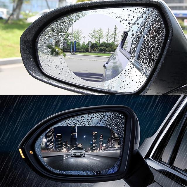 2pcs set car rearview mirror waterproof sticker window transparent film Anti fog anti-glare window foil auto protective stickers 1