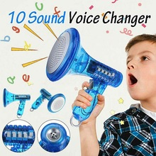 Megaphone Voice-Changer-Robot Low-Sounds Led-Light-Toys And of with Ten Effects Mplifies