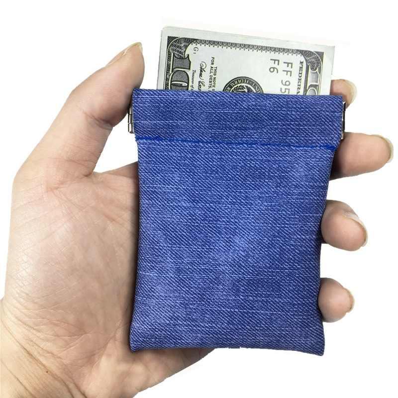 Kleine Geldbörse Frauen Männer Mini Brieftasche tasche Kleine Geld Pouch Wenig Business Kreditkarte Halter für kinder Blau Schwarz münze Brieftasche