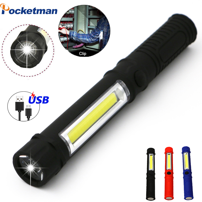 Mini Portable Lanterns Working Inspection Torches COB LED Multifunction Maintenance Flashlight With Magnetic Base