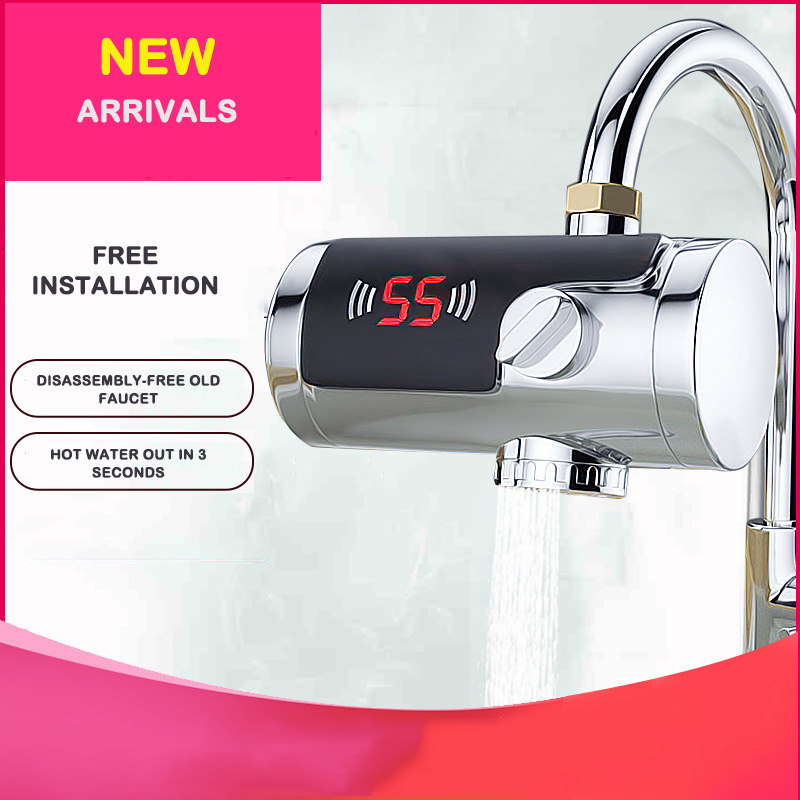 Electroplated Household Connection Type Electric Hot Water Faucet Hot And Cold Water Faucet Heater Electric Hot Water Faucet