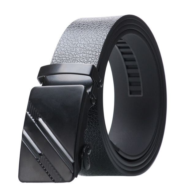 Alloy Buckle Artificial Leather Bark texture Business Casual Belt 5
