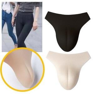Fake Vagina Underwear Control False Pussy Panty Gaff Insert Padded Panties False Pussy For Transgender Drag Queen Crossdresser(China)