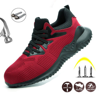 Steel Toe Cap Safety Work Shoes Men Breathable Outdoor Non-Slip Anti-Puncture Work Boots Metal Toe Safety Shoes цена 2017