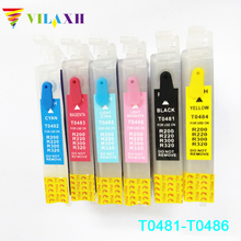 цена на T0481 refill ink cartridge T0481 - T0486 for Epson Stylus Photo R200 R220 R300 R300M R320 R340 RX500 RX600 RX620 RX640 printer