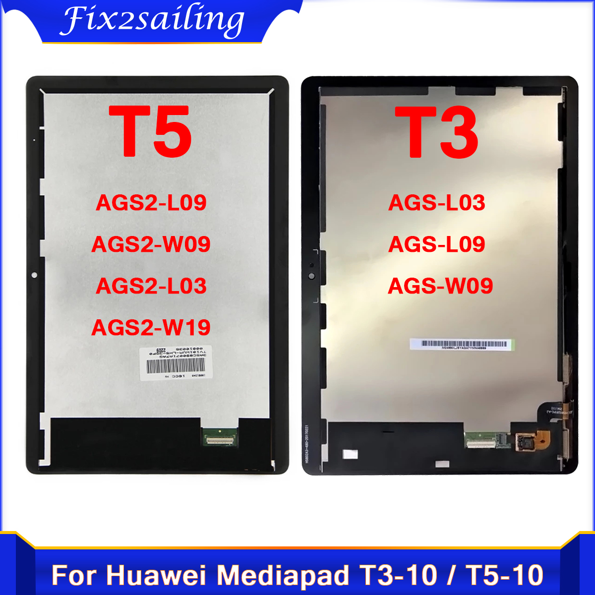 Test LCD Display For Huawei MediaPad T3 T5 10 AGS-L03 AGS-L09 AGS-W09 AGS2-L09 AGS2-W09 AGS2-L03 Touch Screen Digitizer Assembly