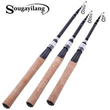 Sougayilang 1.8M 2.1M M RodตกปลาTelescopic Ultralightน้ำหนักCarbon Spinning Travel Pole Fishing Tackle De pesce