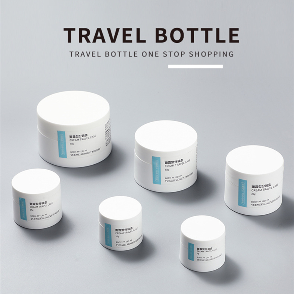 Cream Jar Plastic Container Pot White Empty Matte Cosmetic Packaging Bottle Travel Bottles Frosted Storage Box Makeup Tools