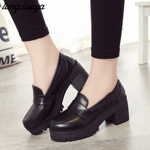 Japanese High School Student Shoes Girly Girl Lolita Shoes Cospaly Shoes JK Uniform PU Leather Loafers Casual Shoes