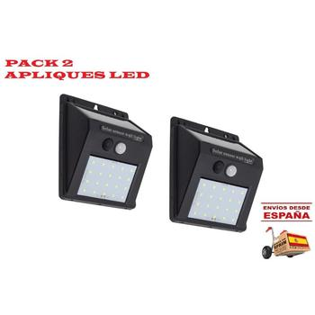 PACK 2 Solar Lights Outdoor 6500K With Motion Sensor Free EXPRESS 24h
