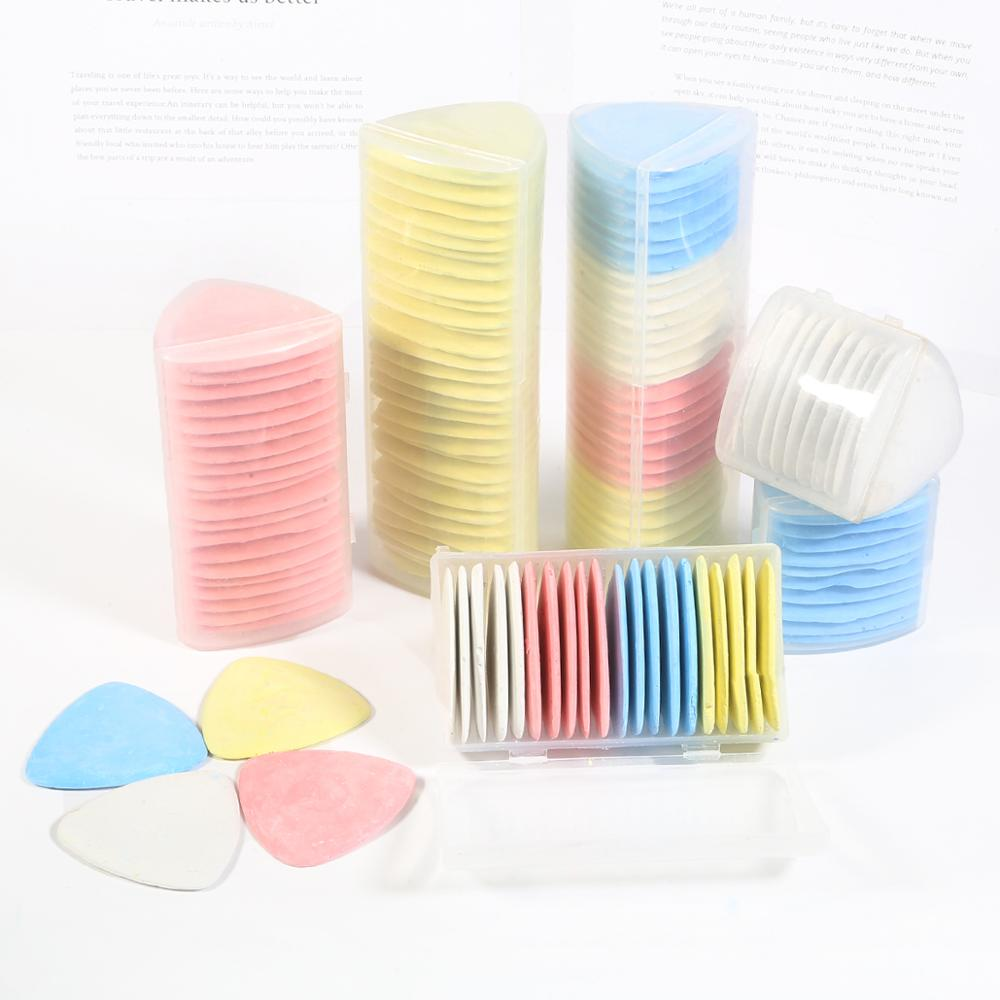 30Pcs Professional Tailors Chalks Assorted Color Triangle Tailor Fabric Marker Chalk Sewing Quilting Notions 30 Pcs in One Box