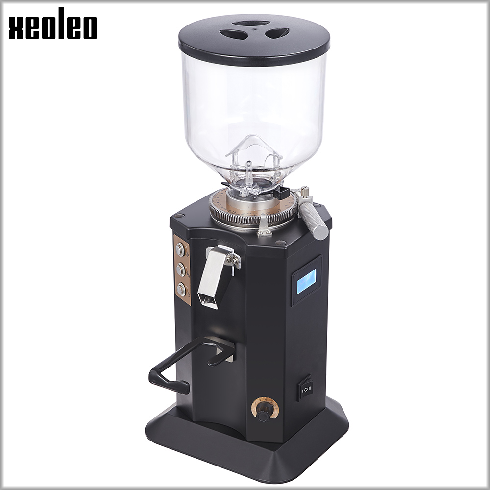 XEOLEO 200W Electric Coffee Grinder Automatic Coffee Milling Machine1.5L Coffee Milling Machine Adjustable Coarse Fine 110/220V