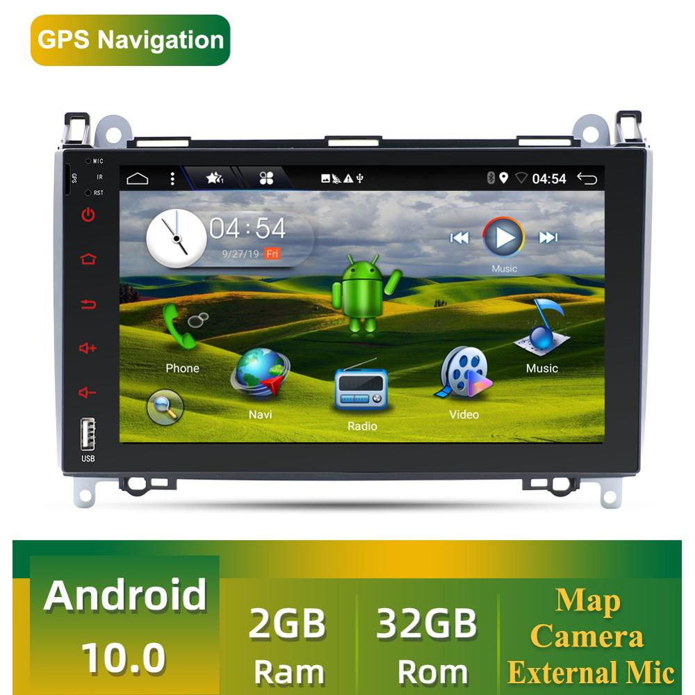 2 Din Auto Multimedia Player Android 9,0 Fü<font><b>r</b></font> Mercedes-Benz Viano/Vito/Sprinter/W906/W245/Volkswagen <font><b>Crafter</b></font> GPS BT SWC Kamera Karte image