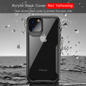 Image 3 - Luphie à prova de choque caso armadura para iphone 11 pro max transparente capa para iphone x xs xr max 6 7 8 plus caso de silicone luxo